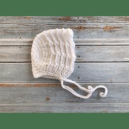 Capota crochet blanca