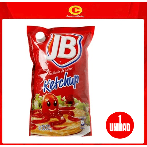 Ketchup JB con tapa 1000 g