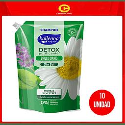 Shampoo Ballerina detox purificante (10 Unidades)