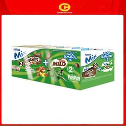 Yoghurt Nestlé Mix choc+milo 710gr Pack semanal x5