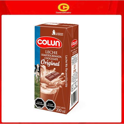 Leche Colun 200ml Chocolate (12 Unidades)
