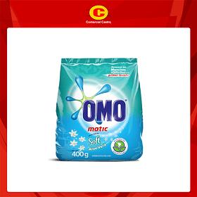 Detergente Omo Matic Soft Aloe Bolsa 400Gr ( 3 Unidades)