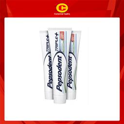 Crema dental Pepsodent triple+ 90 g pack 3