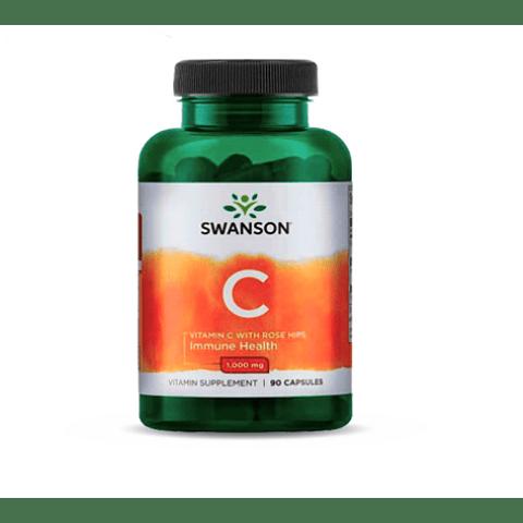 Vitamina C Swanson (90 cápsulas)