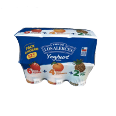 Yoghurt Batido Los Alerces 125gr Pack familiar x12