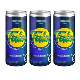Bebida Energética Tula 250cc (3Unidades)
