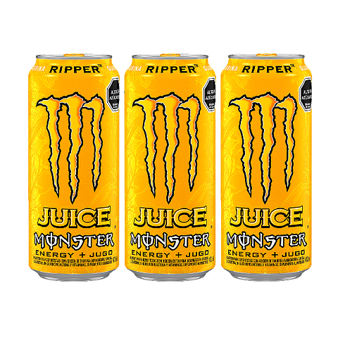 Energética Monster Energy 473cc Juice Ripper (3 Unidades) ( Remate de stock, Ultimas Unidades)