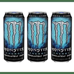Monster Energy Absolutely Zero 473 mL (3 Unidades) ( Remate de stock, Ultimas Unidades)