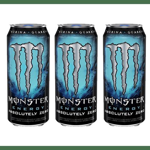 Monster Energy Absolutely Zero 473 mL (3 Unidades)