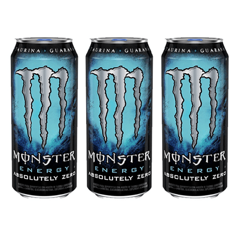 Monster Energy Absolutely Zero 473 mL (3 Unidades) ( Remate de stock, Ultimas Unidades)