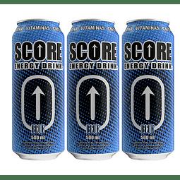 Energética Score Blue 500cc (3 Unidades) ( Remate de stock, Ultimas Unidades)