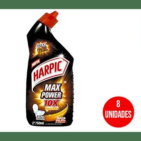 Limpiador Harpic Max Power 750 ml (8 Unidades)