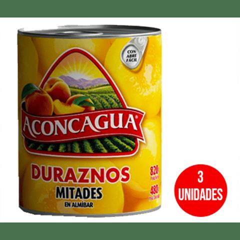 DURAZNOS ACONCAGUA 590GR MITAD ( 3 unidades )