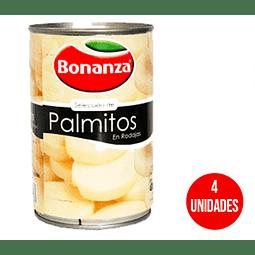 Palmitos Bonanza Rodajas 400 Gr ( 4 Unidades)