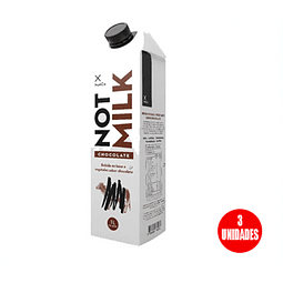 Bebida vegetal Not Milk chocolate, 1 L (3 Unidades)