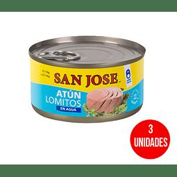 Atún lomitos San Jose en agua 160 g (3 unidades)
