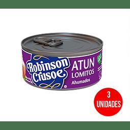 Atún Robinson Crusoe Lomitos ahumados 160 g 3u