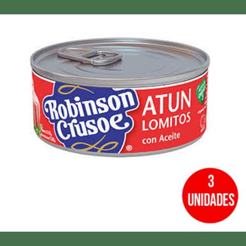 Atún Robinson Crusoe Lomitos en aceite 160 g (3 Unidades)