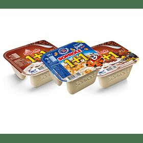 Soprole 1+1 c/cuchara Cereales 140gr Variedades (10 unidades)