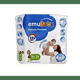 Pañal Emubaby Prem Med 24 Unidades