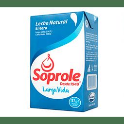Leche Soprole Natural Litro (3 Unidades)