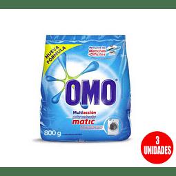 Detergente Omo Multi Acción 800gr (3 Unidades)