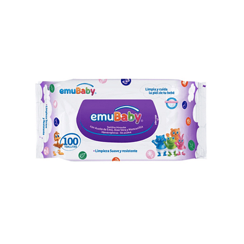 Toallita de limpieza con jabón EmuWipes (100 toallitas) OFERTA