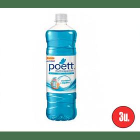 Limpiador Poett Suavidad de Algodón 900cc (3 unidades)