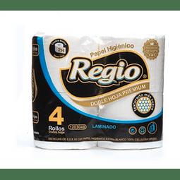 Papel Higiénico Regio Doble Hoja 4 Rollos 30mts (3 Unidades)