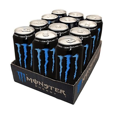 Monster Energy Absolutely Zero 473 mL (12 Unidades)
