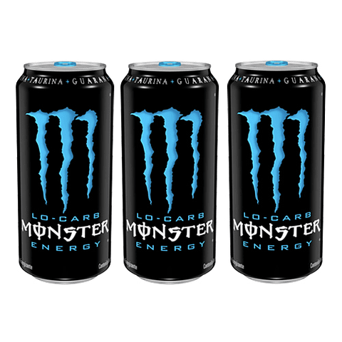 Monster Energy 473cc Low Carb (3 Unidades) ( producto destacado)