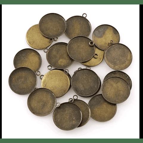 Cabuchon 20mm bronce