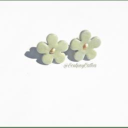 Aros Flor verde tope