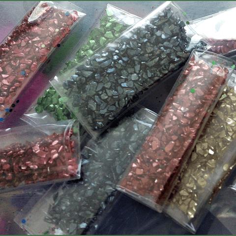 Set 3 piedras metálicas colores