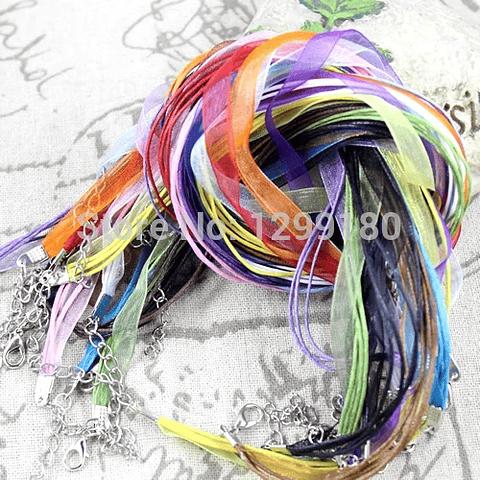 Collar organza colores 3 unidades