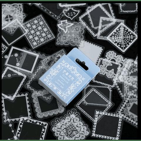 Set 50 pegatinas cuadrados