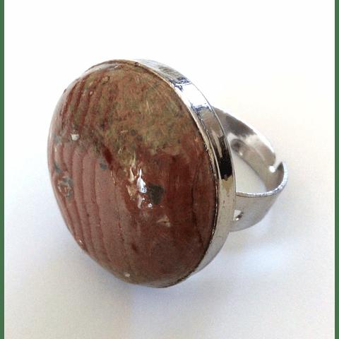 anillo piedra combarbalita