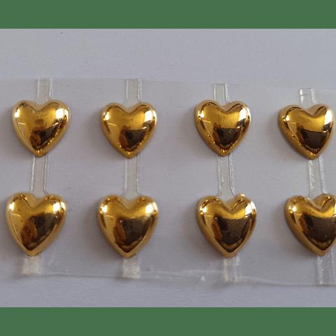 Set 8 corazones dorados