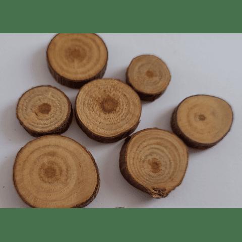 Set 4 rodelas madera pequeño