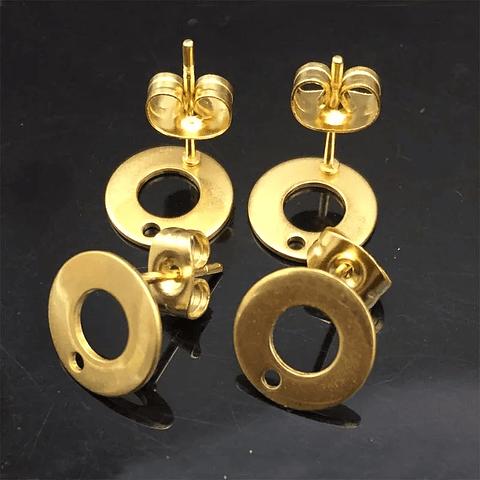 Topes acero par dorado
