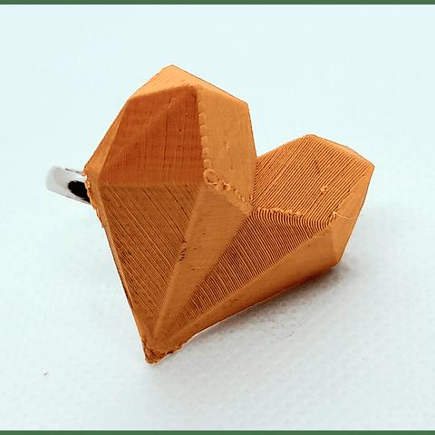 Anillo corazón geométrico