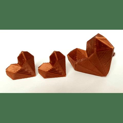 Conjunto geométrico cobre color