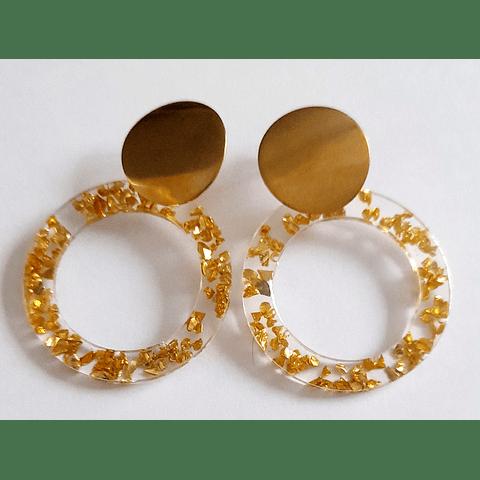 Aros resina piedras metalizadas