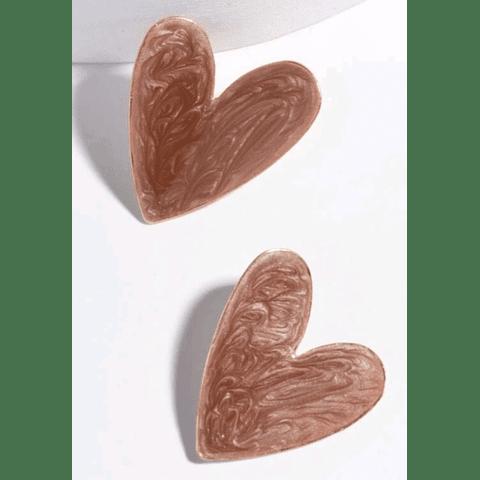 Corazón color cafe