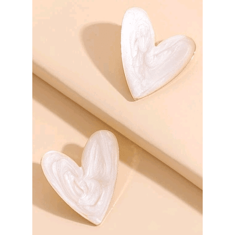 Corazón color blanco