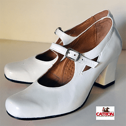 Zapato De China Blanco