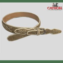 Cinturones C/ Crudo Costura Al Centro