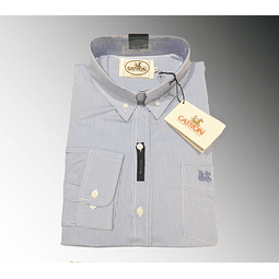 Camisa celeste cuadro pequeño