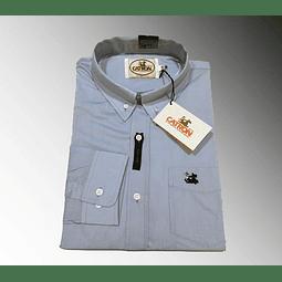 Camisa Celeste lisa Catrón
