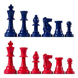 Set piezas para Ajedrez de color, rey 95mm